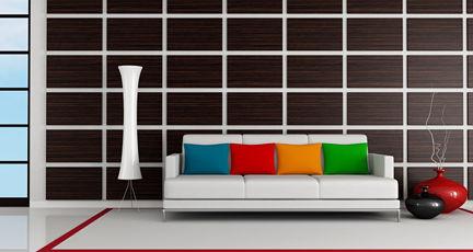 Wandgestaltung Holzwand