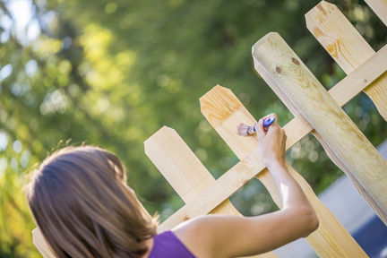 Holzschutz Zaun