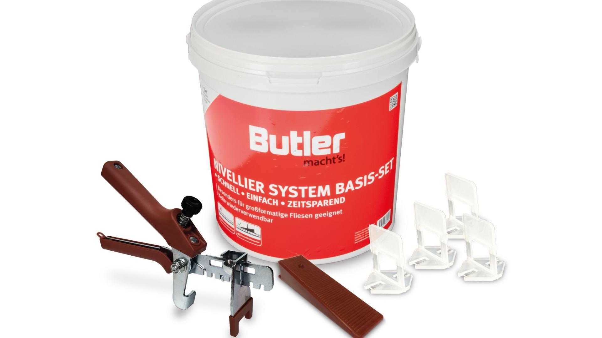 Das FLIESEN NIVELLIER SYSTEM von Butler macht's!