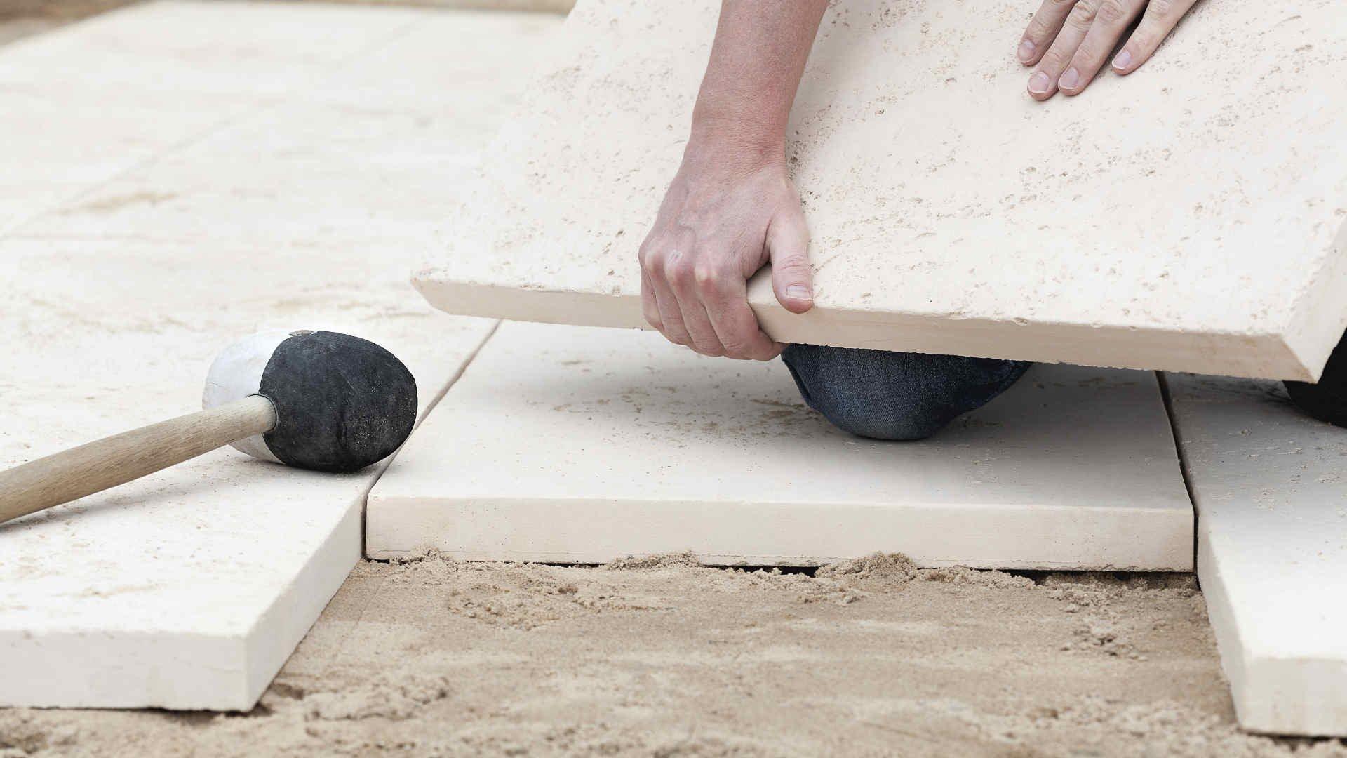 Verlegeformen von Terrassenplatten