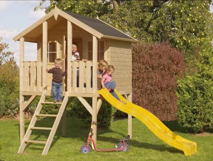 Rutsche mit Spielhaus