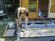 Aufbau der Terrasse