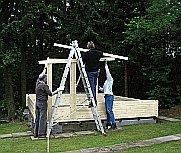 Aufbau des Blockbohlenhauses