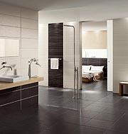 Keramische Fliesen machen überall eine gute Figur. Mit ihnen lässt sich beispielsweise das Bad funktional, ästhetisch und hygienisch gestalten. (Fotp: epr/Steuler Fliesen)