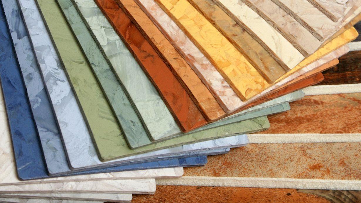 Linoleum Fußbodengestaltung