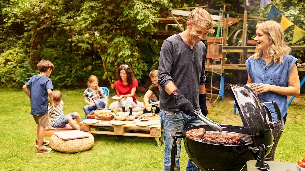 Grillzeit mit der Familie