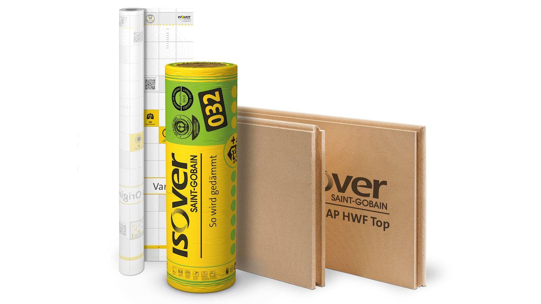 Die richtige Kombination macht den Unterschied: die Steildach-Dämmlösung mit System und dem Öko-Plus. ISOVER Integra AP HWF Top, ISOVER Integra ZSF-032 und Vario® KM Duplex UV.