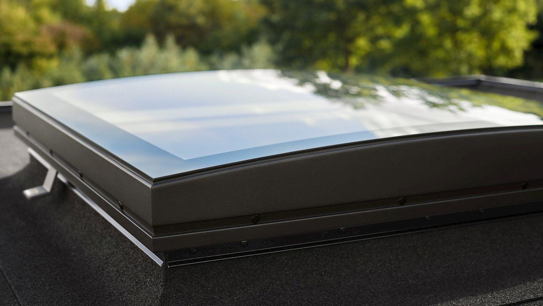Flachdach Fenster Konvex
