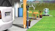 Marley Kaltwassersystem Carport und Terrasse