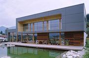 Holzfenster Terasse Teich