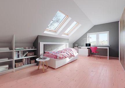 Osmo Jugendzimmer Fußboden Kiefer rosa