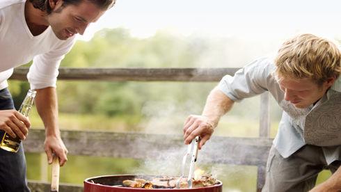 Grillen mit Holzkohle
