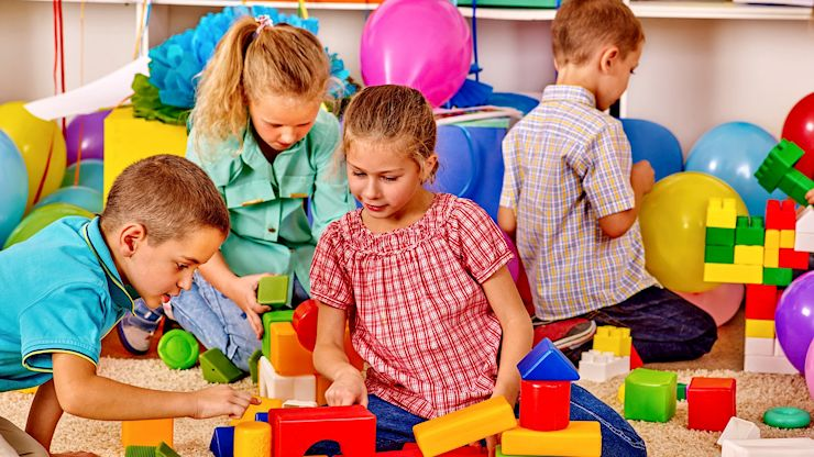 Kinderspielecke Baustoffhandel